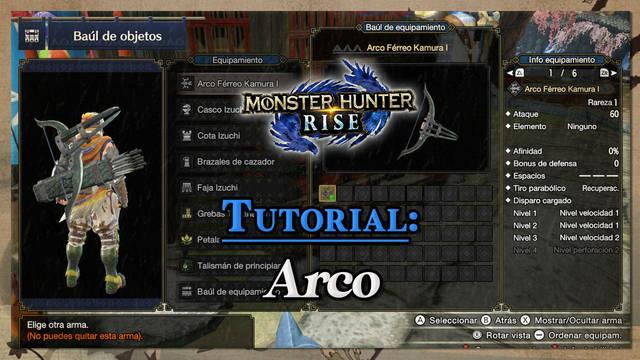 Arco en Monster Hunter Rise: Tutorial y combos