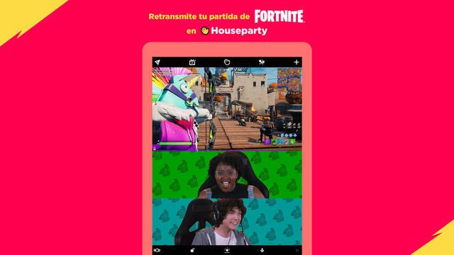 Fortnite streaming Houseparty integración