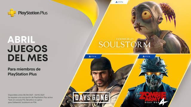 Ya disponibles juegos de PS Plus de abril 2021