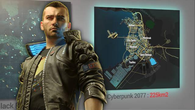 Comparativa de los mapas más grandes de los videojuegos.
