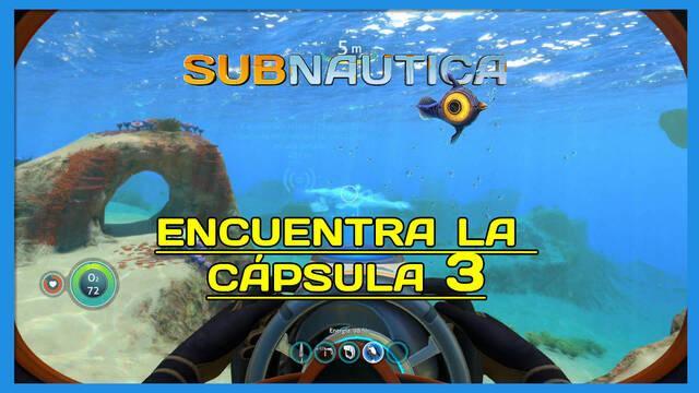 Encuentra la Cápsula 3 en Subnautica al 100%