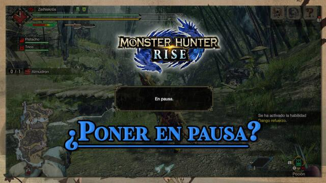 Cómo pausar la partida en Monster Hunter Rise