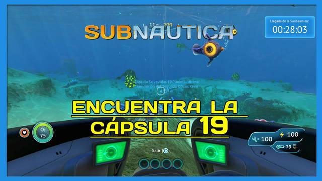 Encuentra la Cápsula 19 en Subnautica al 100%