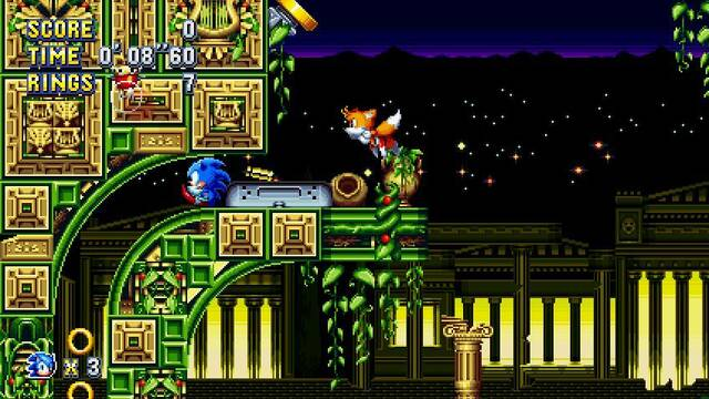 Sonic Mania se actualizó, aparentemente por error, con novedades
