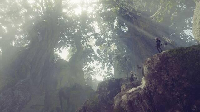 Nuevas imágenes de NieR: Automata nos muestran los bosques y las ruinas de un castillo