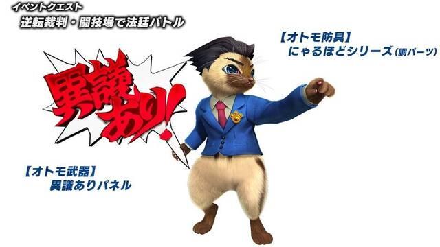 Ace Attorney estará en Monster Hunter XX