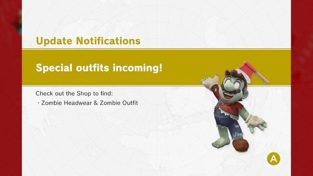 El disfraz de zombi y más filtros fotográficos llegan a Super Mario Odyssey