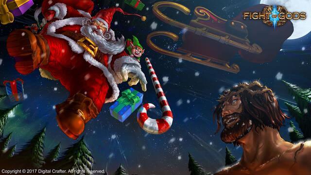 Santa Claus y Jesucristo combaten por la Navidad en Fight of Gods