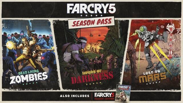 El pase de temporada de Far Cry  5 nos llevará a luchar a Vietnam y Marte
