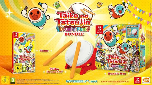 Taiko no Tatsujin: Drum 'n' Fun se muestra en vídeo