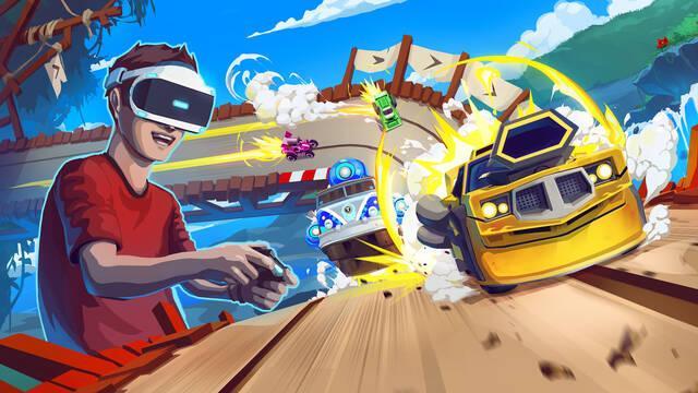 Tiny Trax llegará a la realidad virtual de PS VR el 25 de julio