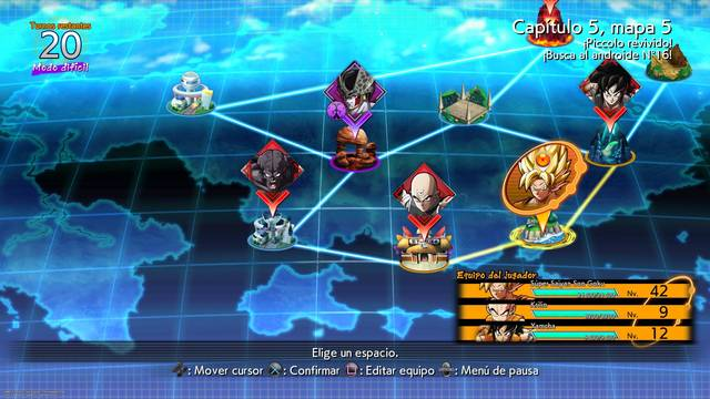 Los mapas de modo historia Dragon Ball FighterZ