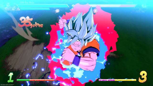 Goku Super Saiyan God Blue Dragon Ball FighterZ