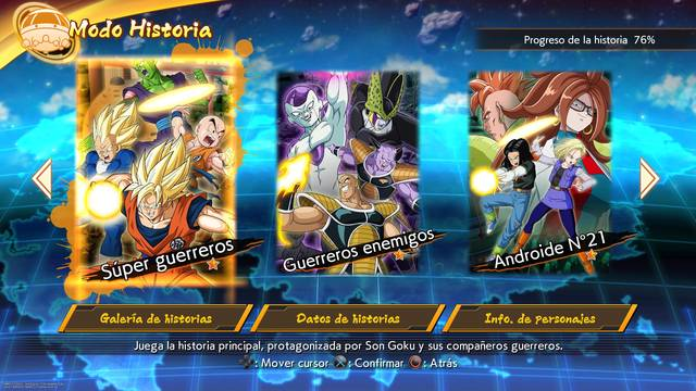 Tres rutas de modo historia Dragon Ball FighterZ