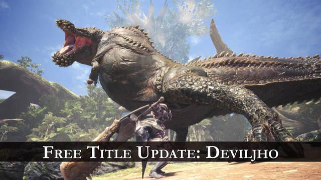 Monster Hunter World tendrá una gran actualización el próximo 22 de marzo