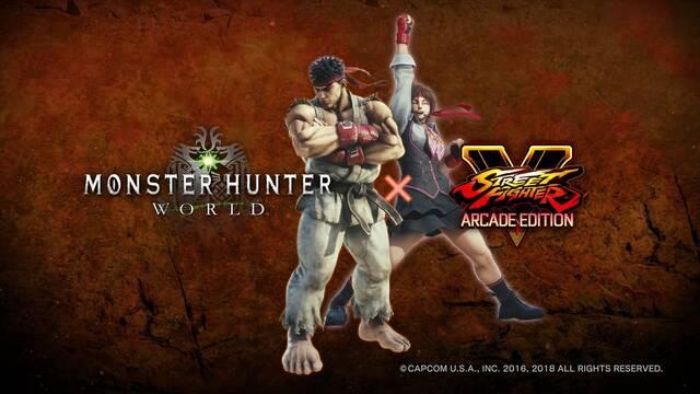 Ryu y Sakura estarán en el mundo de Monster Hunter World