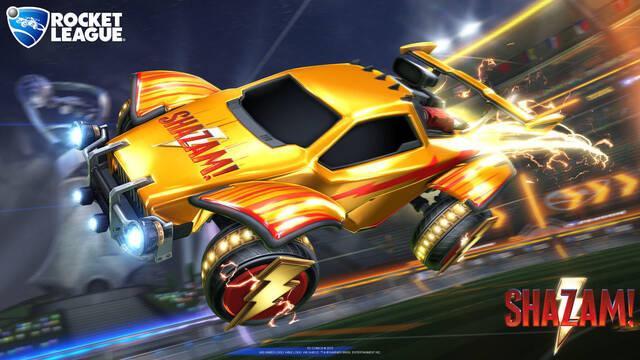 Consigue ítems especiales de Shazam! en Rocket League