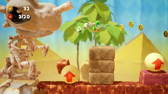 Yoshi's Crafted World muestra su nivel Haunted Maker Mansion