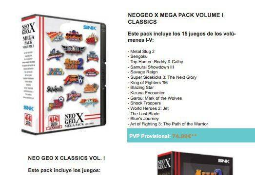 Anunciados los nuevos juegos de Neo Geo X para España