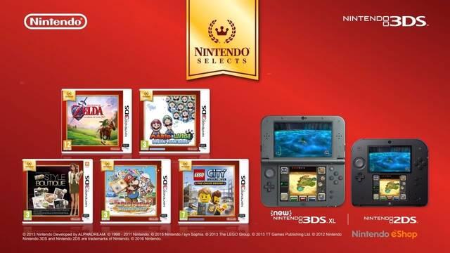 El 24 de junio llegarán cinco nuevos Nintendo Selects a Nintendo 3DS
