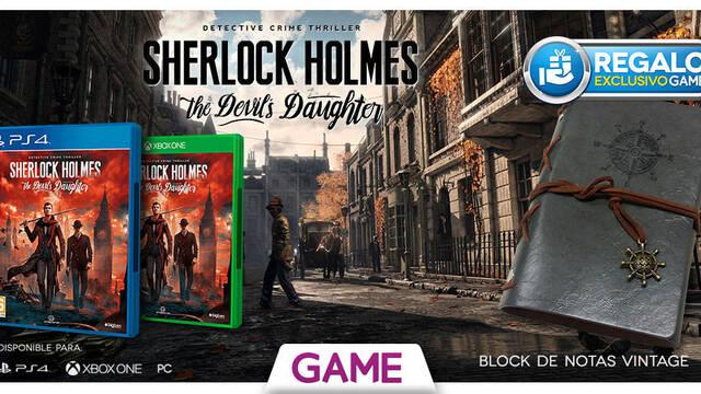 GAME regalará una agenda por la reserva de Sherlock Holmes: The Devil's Daughter
