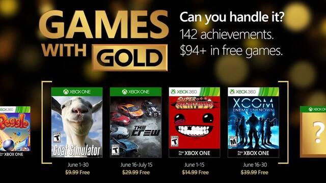 Desvelados los Juegos con Gold del mes de junio