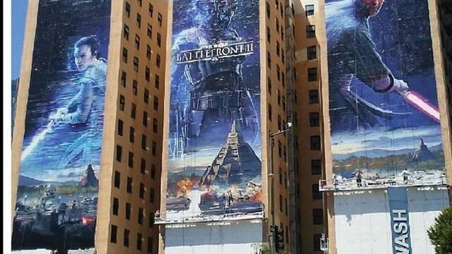 Star Wars Battlefront II decora las calles de Los Ángeles con un espectacular anuncio