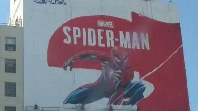 Spider-Man para PS4 prepara un enorme mural publicitario de cara al E3 2018