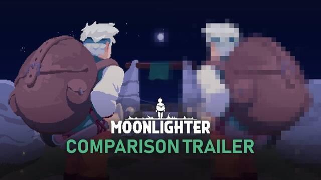 Moonlighter se burla de las comparativas gráficas en su nuevo tráiler
