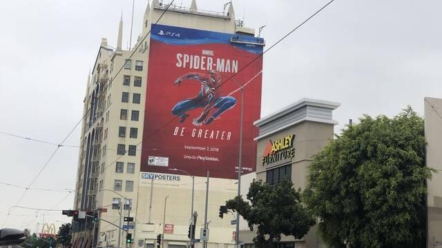 Así es el mural de Spider-Man frente al edificio del E3 2018