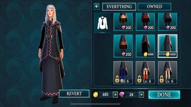 Harry Potter: Hogwarts Mystery tiene límite de oro