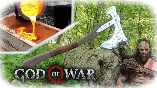 Crean el hacha de Kratos de God of War en el mundo real