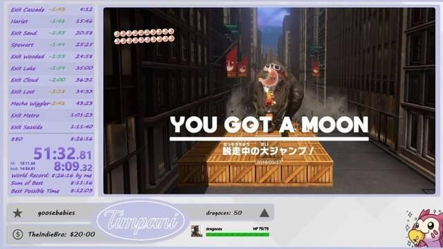 Nuevo récord: 880 lunas de Super Mario Odyssey en 8 horas y 16 minutos