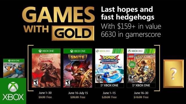 Anunciados los Juegos con Gold de junio de 2018
