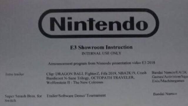 Una supuesta lista del E3 de Nintendo cobra credibilidad en las últimas horas