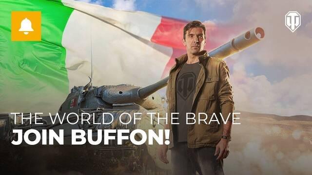 El futbolista Gianluigi Buffon se sumerge en el mundo de World of Tanks