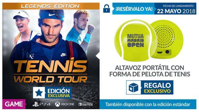 GAME detalla sus incentivos por la reserva de Tennis World Tour