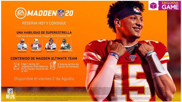 GAME confirma que venderá la edición física de Madden NFL 20 en exclusiva