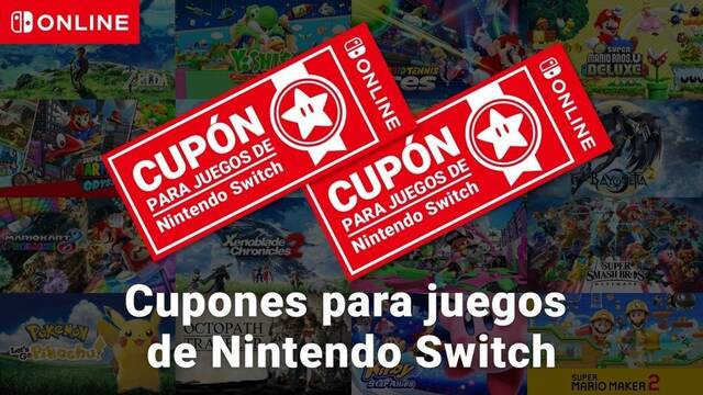 Anunciados los cupones de Nintendo Switch: dos juegos digitales por 99 euros