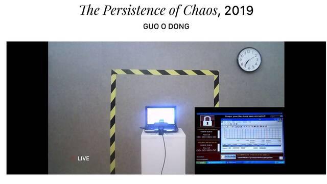 Un artista crea una obra centrada en el malware informático