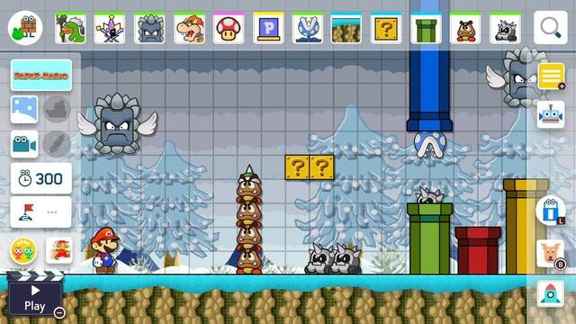 Un fan imagina cómo sería el estilo Paper Mario en Super Mario Maker 2