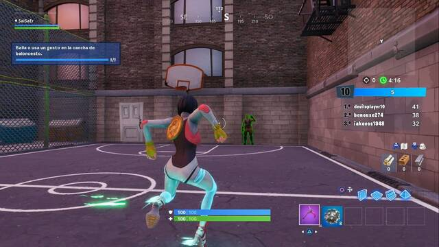 Desafío Fortnite: Baila o usa un gesto en la cancha de baloncesto - SOLUCIÓN