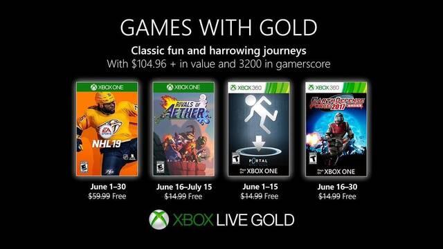 Anunciados los Juegos con Gold de junio de 2019