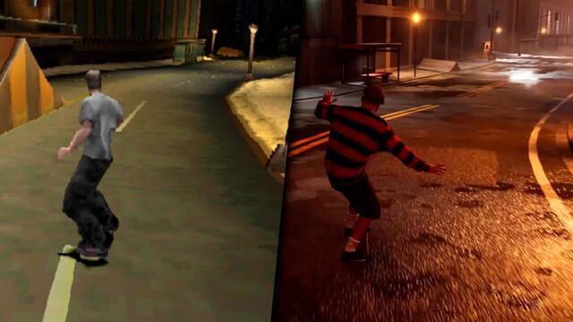 Tony Hawk's Pro Skater 1 + 2 comparado con los originales