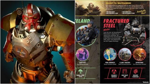 Fallout 76 presenta su hoja de ruta para 2020: temporadas y misiones de la Hermandad del Acero.