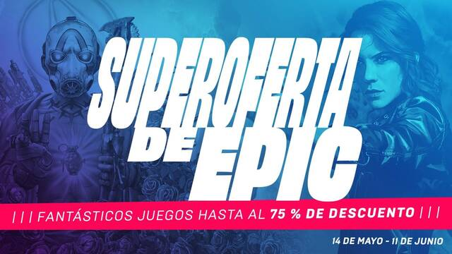 Superofertas en Epic Games Store de hasta el 75%.