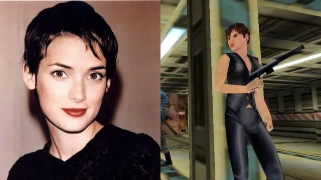 El diseño de la cara de Joanna Dark se basa en Winona Ryder.