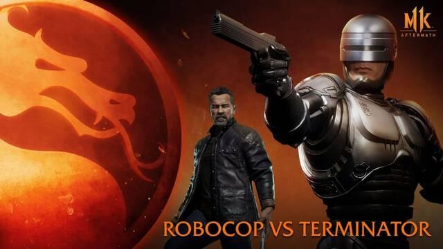 Mortal Kombat 11: Aftermath prepara su lanzamiento con un combate entre Robocop y Terminator.