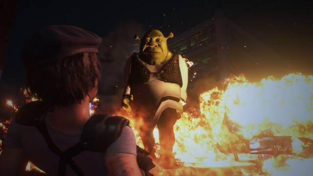 Este mod cambia a Nemesis de Resident Evil 3 Remake por Shrek.