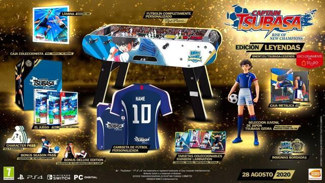 Captain Tsubasa: Rise of New Champions tiene una edición especial de 2.000 euros.